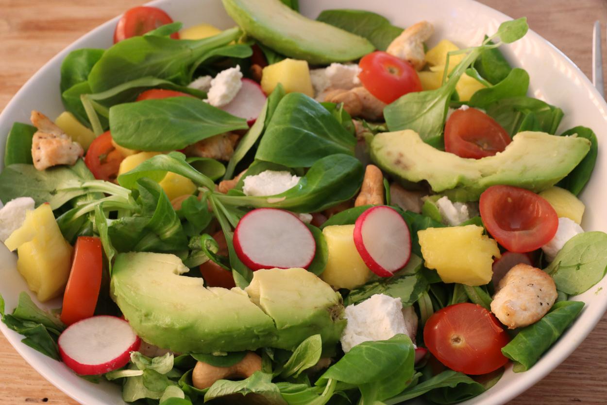 zomerse salade kip